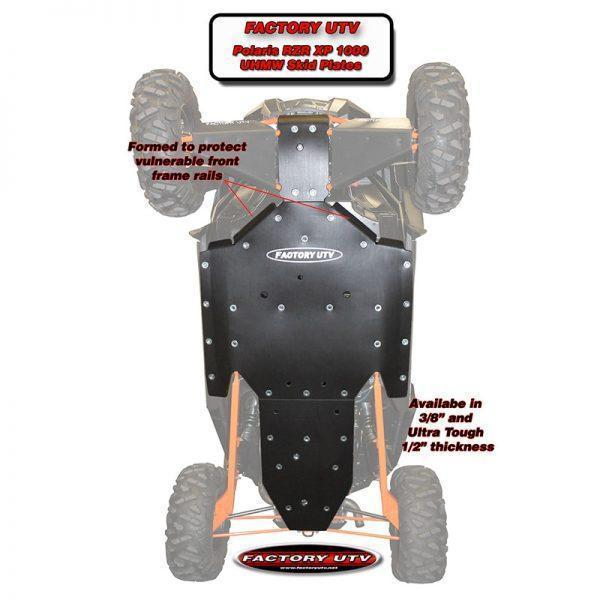 RZR XP1000 Ultimate Half Inch UHMW Package.Polaris RZR XP 1000 Three Eights UHMW Skid Plate